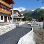 Aménagement rue principale - Val d'Isère - Savoie