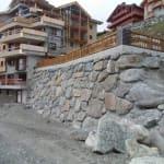 Mur soutènement - Val-Thorens - Savoie